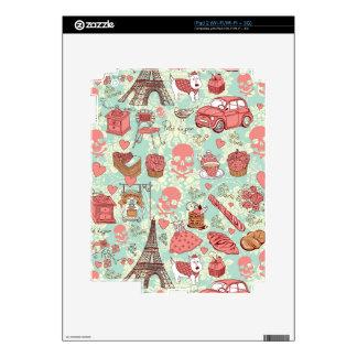 Retro punk in paris goofy pattern. skin for iPad 2