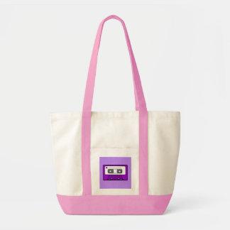 "Retro Purple 80""s Mixtape Tote Bag"