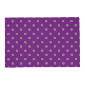 Retro Purple and Gray Pattern Placemat