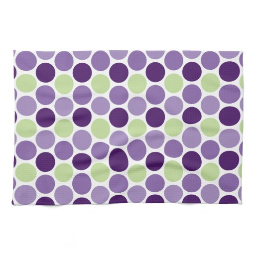Green And Purple Kitchen: Retro Purple And Green Circles Kitchen Towels
