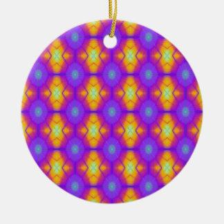 Retro Purple and Orange Explosion Ornament