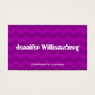 Retro Purple Chevron Professional Business Cards