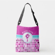 Retro Purple Circles Figure Skater By Golly Girls Crossbody Bag at Zazzle