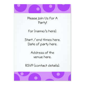 "Retro Purple Circles Pattern. 6.5"" X 8.75"" Invitation Card"