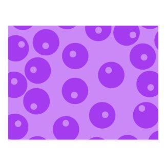 Retro Purple Circles Pattern. Postcard