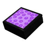 Retro Purple Circles Pattern. Trinket Boxes