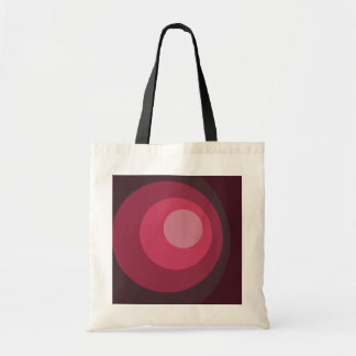 Retro Purple Circles Tote Bag