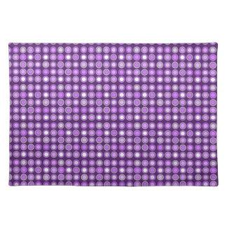 Retro Purple Concentric Circles Cloth Placemat