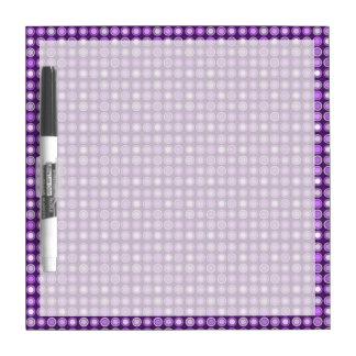 Retro Purple Concentric Circles Dry Erase Board