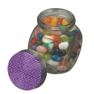 Retro Purple Concentric Circles Glass Candy Jars