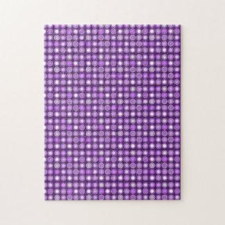 Retro Purple Concentric Circles Puzzle