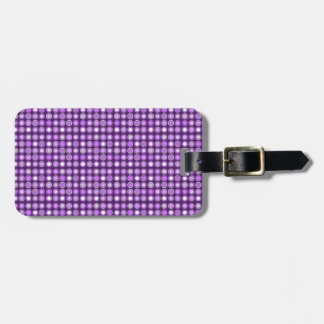 Retro Purple Concentric Circles Tag For Luggage