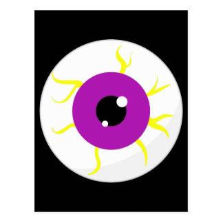 Retro Purple Eyeball Post Cards