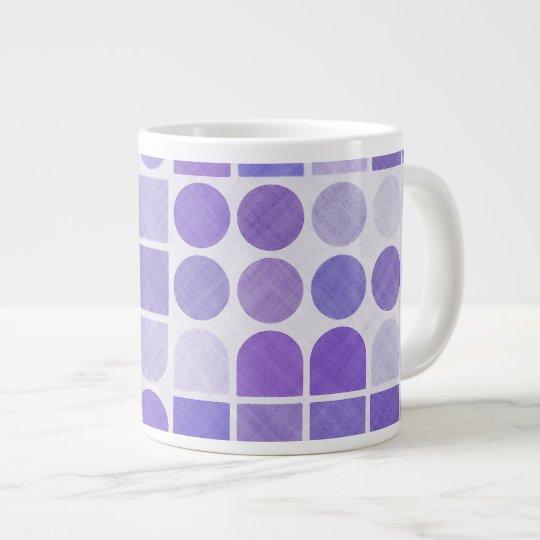 Retro Purple Geometric Pattern Large Coffee Mug