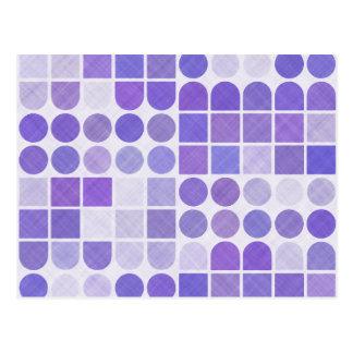 Retro Purple Geometric Pattern Postcard