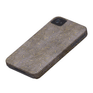 Retro Purple Grunge Pattern iPhone 4 Case