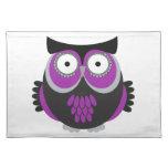 Retro Purple Owl Placemat
