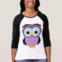 Retro Purple Owl T-Shirt