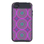 Retro Purple Pattern Fractal Art iPhone 4/4S Case