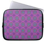 Retro Purple Pattern Fractal Art Laptop Sleeve