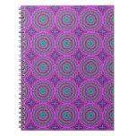 Retro Purple Pattern Fractal Art Note Book