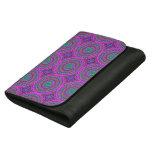 Retro Purple Pattern Fractal Art Women's Wallet