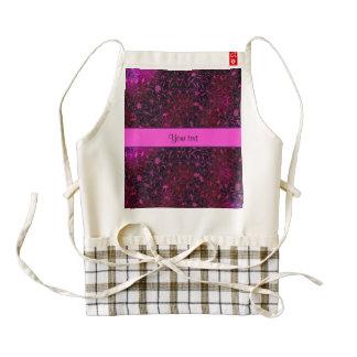Retro purple & Pink Flowers Zazzle HEART Apron