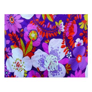 Retro Purple Postcard