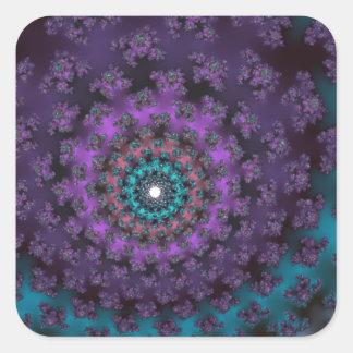 Retro Purple Square Sticker
