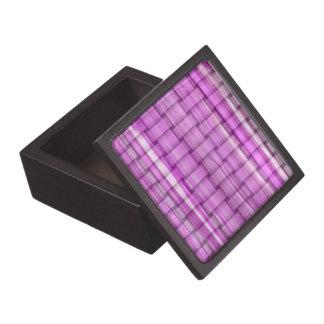 Retro purple stripes art graphic design gift box
