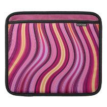 retro purple stripes pattern iPad sleeve
