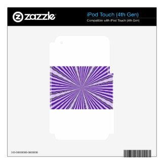 RETRO PURPLE STRIPES SKIN FOR iPod TOUCH 4G