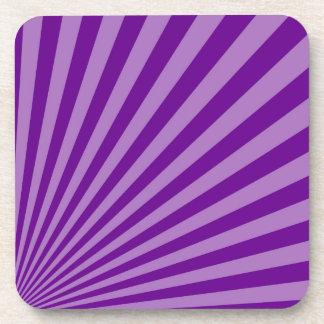 Retro Purple Sun Rays Background Coaster