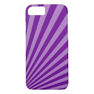 Retro Purple Sun Rays Background iPhone 8/7 Case