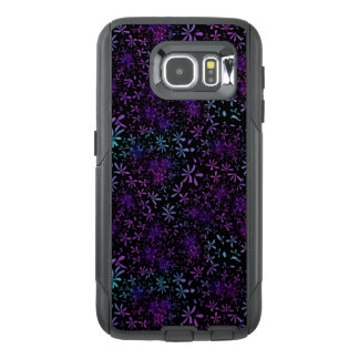 Retro Purple Turquoise Floral Batik OtterBox Samsung Galaxy S6 Case
