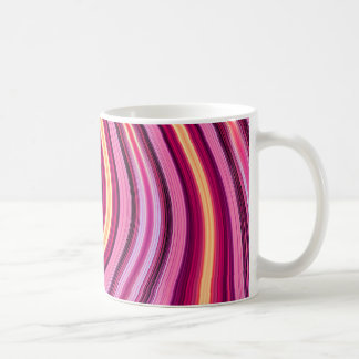 Retro purple wavy stripes pattern classic white coffee mug