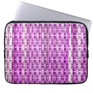 Retro purple wicker art graphic design computer sleeve