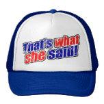 Retro que es lo que ella dijo el gorra del camione