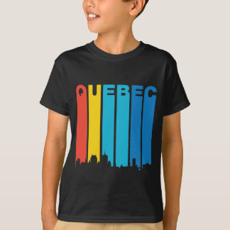 Retro Quebec Skyline T-Shirt