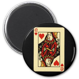Retro Queen of Hearts Magnet