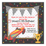 Retro Race Car Birthday Party Invitation