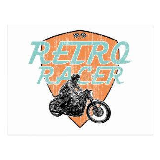 Retro racer postcard