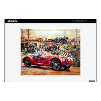 Retro racing car painting skin for laptop