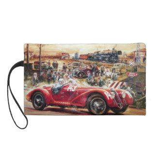 Retro racing car painting wristlet