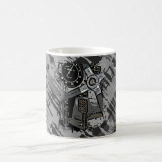Retro Racing - grey splatter Mug
