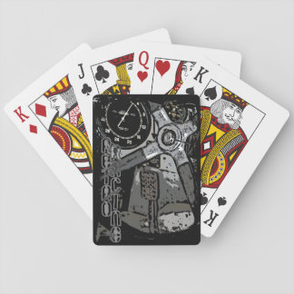 Retro Racing Oldtimer Details Graphic Design Playing Cards