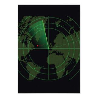 Retro Radar Screen Card