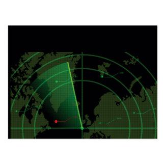Retro Radar Screen Postcard