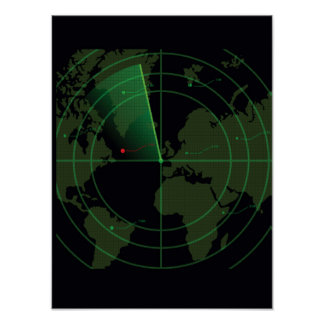 Retro Radar Screen Poster