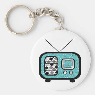 Retro Radio Basic Round Button Keychain